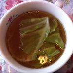 レストハウスリッキーズ - 日替わりランチのスープ