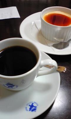 エビアンコーヒー - コーヒーとプリンです。