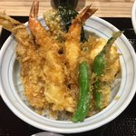 82351911 - 「天丼とらぁ麺」1380円の天丼