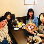 まごころ居酒屋 芝浦 - 誕生日プレート♡感激^^