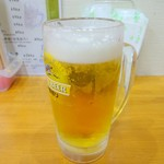 とり福 - 生ビール