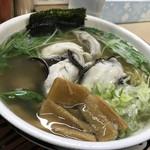 らーめん工房 魚一 - カキラーメン(魚醤) さっぱり 細麺