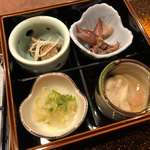 中華割烹 ひさだ - ホタルイカ、蛤、白肝、海月他