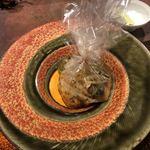 中華割烹 ひさだ - 春の野菜の新玉ねぎ、原木椎茸、コシアブラ、タラの芽、蕗の薹に自家製XO醤で