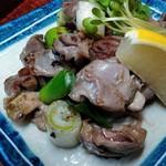 食処酒処いいおか - 砂肝の塩焼き(コリコリ食感がたまらない)