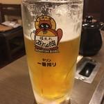 道とん堀 - 生ビール大