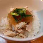 82358974 - 中華そば(800円)+鶏ポン酢丼(10円)