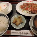 82364300 - 豚ロースの黒胡椒ソース800円2018年1月9日廣東飯店