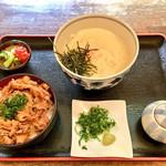 瀬戸内製麺710 - 山かけ生醤油&牛めし