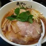 煮干しらーめん青樹 - あっさり煮干しラーメン780円