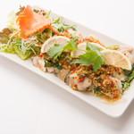 本格タイ料理バル プアン - プラーヌンマナオ(鱸のスパイシー蒸し料理)