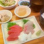三崎港 海の幸 - サービスメニュー 海の幸定食\1500