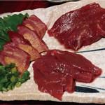 肉バルGABURICO - 新鮮馬肉の3種盛り