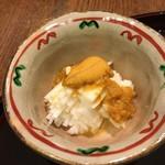 鮨 かわの - 長芋と雲丹