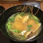 鮨 かわの - 味噌汁