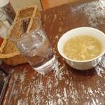 82378922 - スープと水。水が旨い 201803