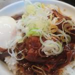 82379220 - ホルモン丼+半熟卵②