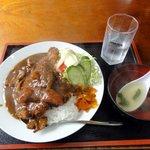一竜 - かつカレーライス スープ