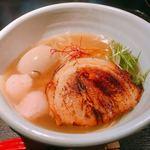 82381044 - 銀笹ラーメン塩&味付け玉子