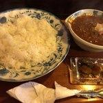 茶豆 - 料理写真:★★★☆ キーマカレー 大辛 コーヒー付き