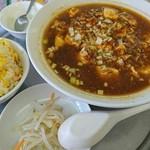 瑞龍春 - 麻婆麺と半炒飯セット
