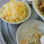 瑞龍春 - セットの半炒飯ともやしのナムル風