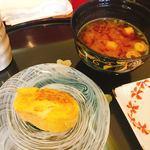 奴寿司 - 追加のたまごとお味噌汁