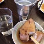 平野屋 - カレイの煮付け+熱燗