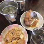 平野屋 - +イカの卵+熱燗