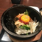 KOREAN DINING 長寿韓酒房 - ジューッという音がしています