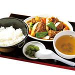 めん処マサムネ屋 - 酢豚定食