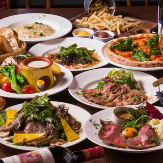 旨い肉料理が自慢!飲み放題付き宴会コースもお任せ下さい!