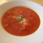 ピッツェリア トニーノ - 白いんげんとベーコンのスープ