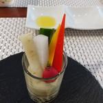 ビストロ ダイア - 蕗の薹ソースのバーニャカウダ