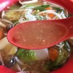 天下一品 - 野菜あんかけスープ