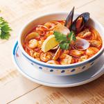 ジョリーパスタ - NEW!海の幸の辛口トマトスープ