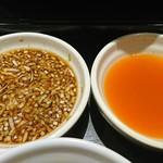 しゃぶ葉 - 新しいタレ(はちみつ醤油、トムヤムクン)