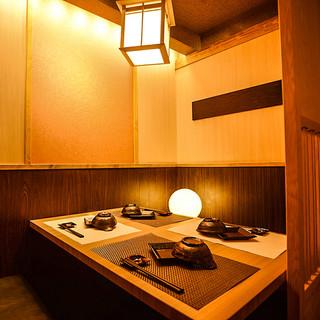 完全個室を完備!少人数~団体様まで個室でご案内いたします。