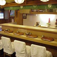 すっぽん鍋 鱧料理 三栄 - カウンター席