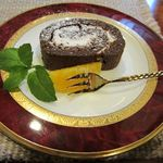 けやきの森 - ケーキ(チョコロール)