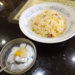 海南飯店 - 半チャーハンと杏仁豆腐