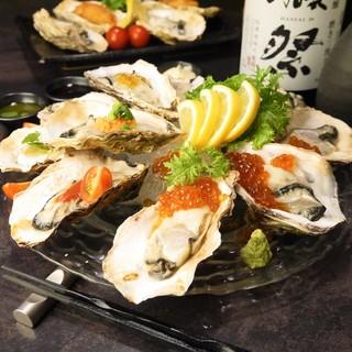 牡蠣料理6品×いくら料理2品が食べ放題で3480円