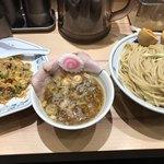 サバ6製麺所 - つけ麺 + 半チャーハンセット