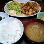 信濃路 - 豚生姜焼き定食 660円