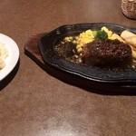 ハローキッド - 黒毛和牛荒びきハンバーグステーキ ライス