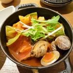 コトコトサリョウ - たっぷりキャベツとあさりの魚介ミネストローネ