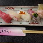 Sushizammai - 彩り五貫にぎり