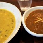 すぱいす暮らし - 料理写真:豆まめカレー+ポークカレー 1,500円 ドリンク付