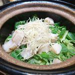 82416024 - ホタテ、ミツバ、生姜の炊き込みご飯