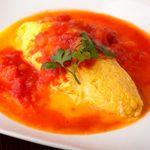 十ちゃんの台所 - 小海老のオムレツフレッシュトマトソース